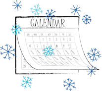 Winter Snowflake calendar25